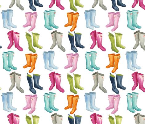 Wellies fabric by jillbyers on Spoonflower - custom fabric