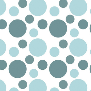 Blue Whimsical Dots