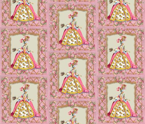 Marie Antoinette Lattice and Roses fabric by greerdesign on Spoonflower - custom fabric