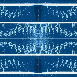 Muybridge Leap (indigo)