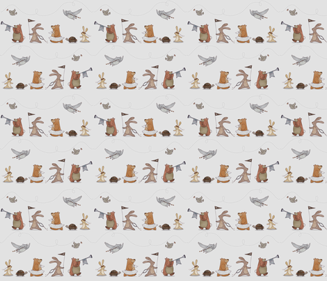 The Good King Parade fabric by arianarmstrong on Spoonflower - custom fabric