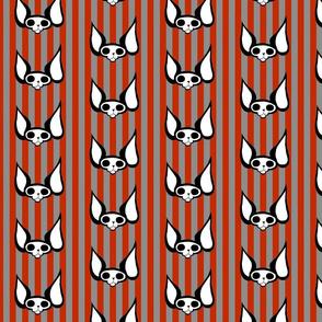 Sphynxiebonez Stripes in Red and Grey