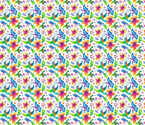 Flight and Flowers fabric by margodepaulis on Spoonflower - custom fabric