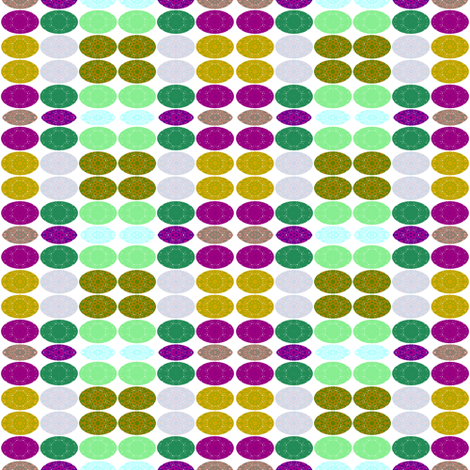 Ovals on White fabric by ginascustomcreations on Spoonflower - custom fabric