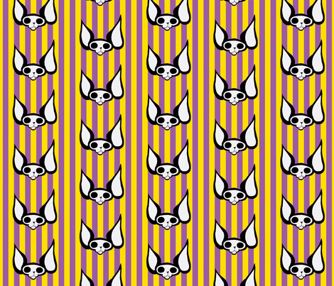 Sphynxiebonez Stripes Yellow & Purple fabric by glamourpuss on Spoonflower - custom fabric