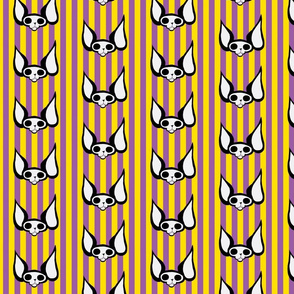 Sphynxiebonez Stripes Yellow & Purple