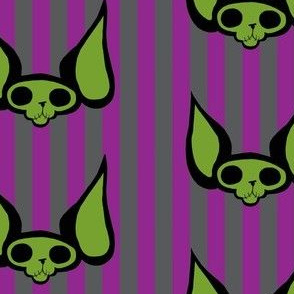 Sphynxie Bonez Stripes Purple Grey Green