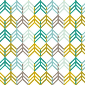 Teal Gold Arrows