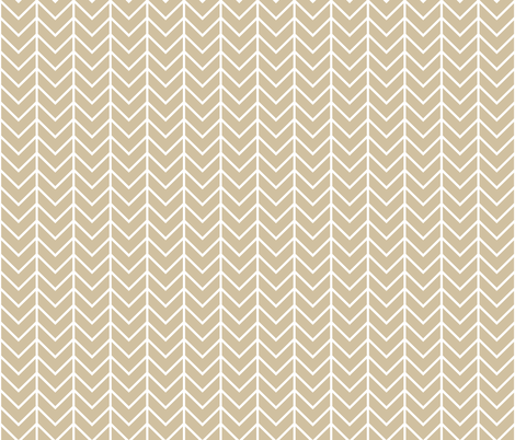 taupe chevron fabric by ivieclothco on Spoonflower - custom fabric