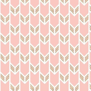 double chevron pink with gold sparkle v. II stripes