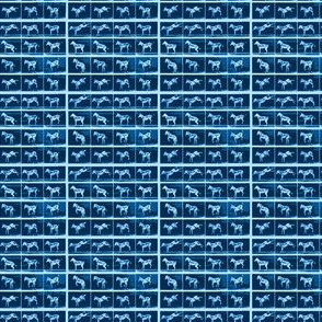 Muybridge Kick (indigo)
