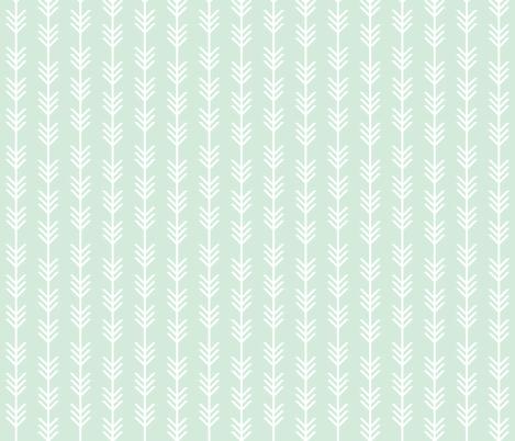 mint arrow stripes fabric by ivieclothco on Spoonflower - custom fabric