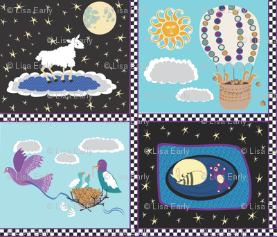 Sara's Baby Quilt - cheater squares