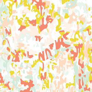 coral watercolor small