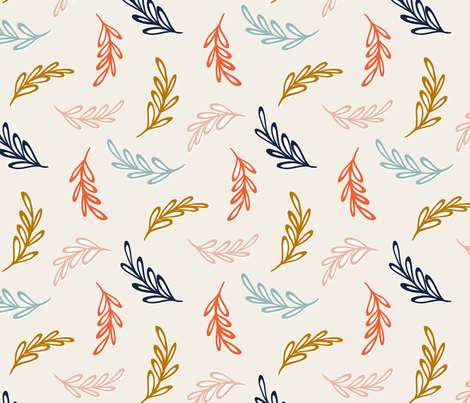 Floating Leaves fabric by jillbyers on Spoonflower - custom fabric