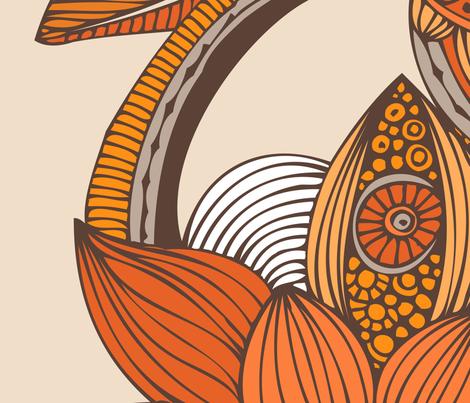 Boho orange fabric by valentinaharper on Spoonflower - custom fabric