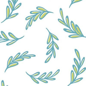 Floating Leaves turquoise