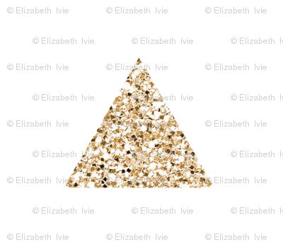 gold sparkle v. I triangles