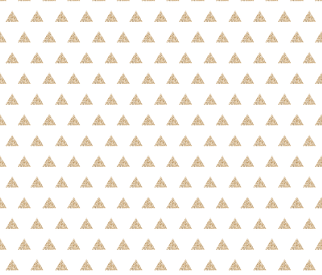 gold sparkle v. I triangles fabric by ivieclothco on Spoonflower - custom fabric