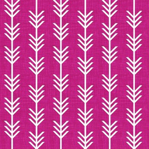 berry linen arrow stripes