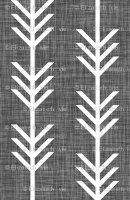 charcoal linen arrow stripes