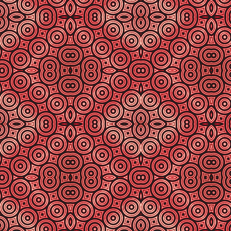 Fire Donuts in the Twilight Zone fabric by clotilda_warhammer on Spoonflower - custom fabric