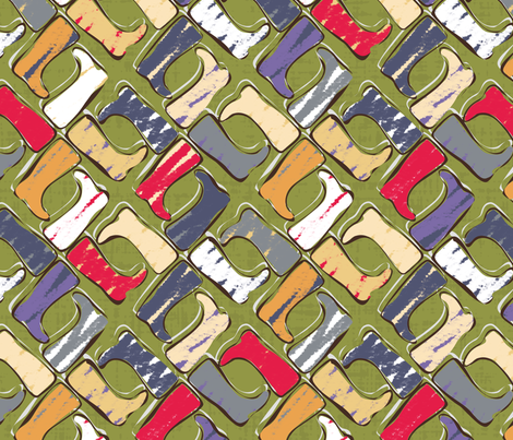 festival wellies fabric by scrummy on Spoonflower - custom fabric