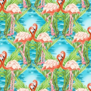 Retro Flamingos