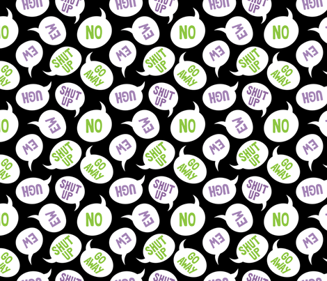 Grumpy Thoughts fabric by blacklilypie on Spoonflower - custom fabric