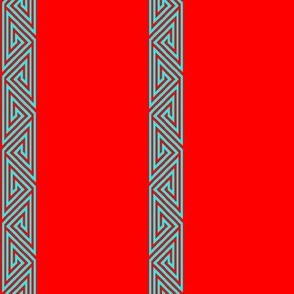 Bold Cyan-Red Freeman Border