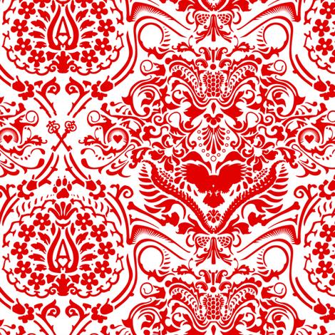 bone fabric by mcclept on Spoonflower - custom fabric