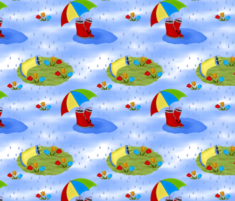 aprilshowers2 fabric by cindypie on Spoonflower - custom fabric