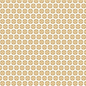 Gold Tone Dots Tiny