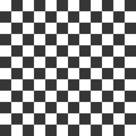 Black & White Check (medium) fabric by vanillabeandesigns on Spoonflower - custom fabric