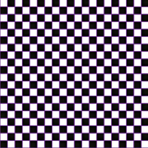 Black and white check on purple background fabric by vanillabeandesigns on Spoonflower - custom fabric