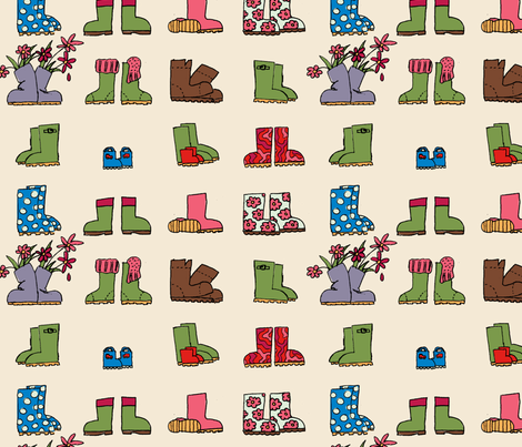 On the back porch fabric by teaandcakey on Spoonflower - custom fabric