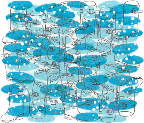 puddle stomping  fabric by bishopart on Spoonflower - custom fabric