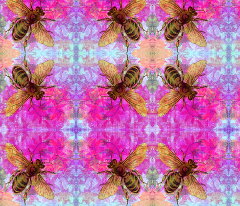 Bee fabric by angelandspot on Spoonflower - custom fabric