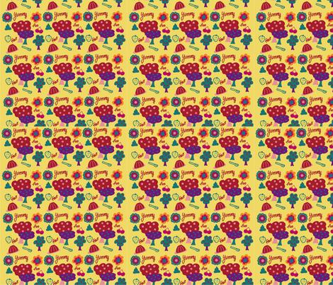 Yummy fabric by judaniebean on Spoonflower - custom fabric