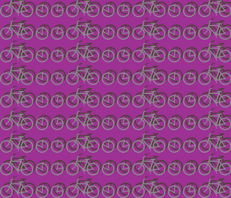 I_Want_to_Ride_My_Bicycle_PURPLE fabric by mammajamma on Spoonflower - custom fabric