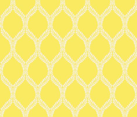 Regal Leaves Canary Inversed fabric by horn&ivory on Spoonflower - custom fabric