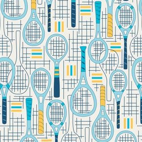 Designer Tennis Racquets Blue Set 2