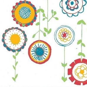 bright stemmed flowers
