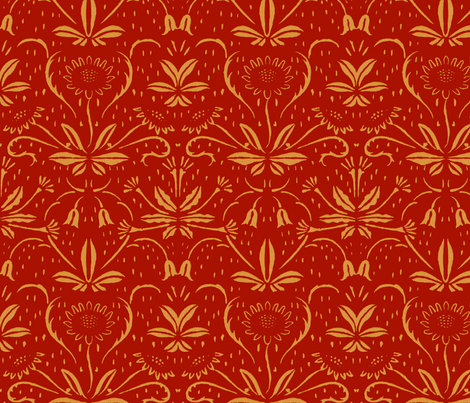Sunflowers ~ Rococo Gold on Adrianople fabric by peacoquettedesigns on Spoonflower - custom fabric