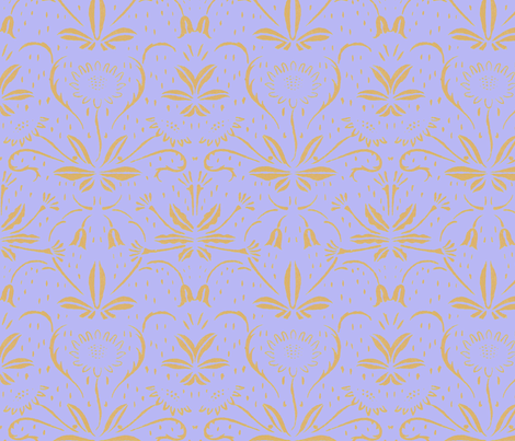 Sunflowers ~ Rococo Gold on Regency fabric by peacoquettedesigns on Spoonflower - custom fabric