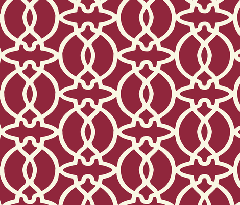 Trellis Fabric burgundy new trellis fabric - horn&ivory - spoonflower
