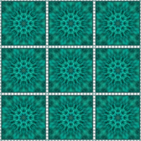 Teal Burst in Lace fabric by ginascustomcreations on Spoonflower - custom fabric
