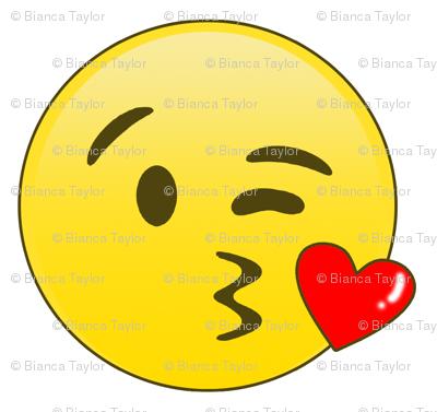 Kissy face text
