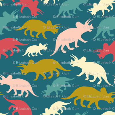 Tiny Dinosaurs - Teal