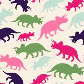 Tiny Dinosaurs - Cream